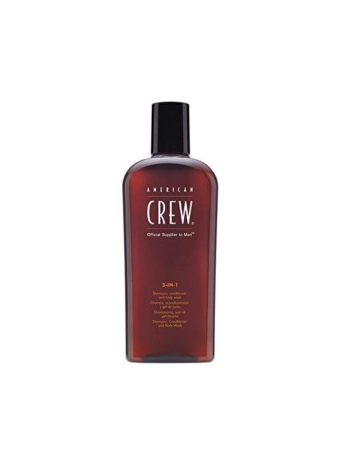 American Crew 3'Ü 1 Arada Saç Ve Vücut Şampuanı 450 Ml Renksiz